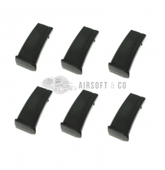 Lot de 6 chargeurs Mid-cap MP7A1 AEP Series