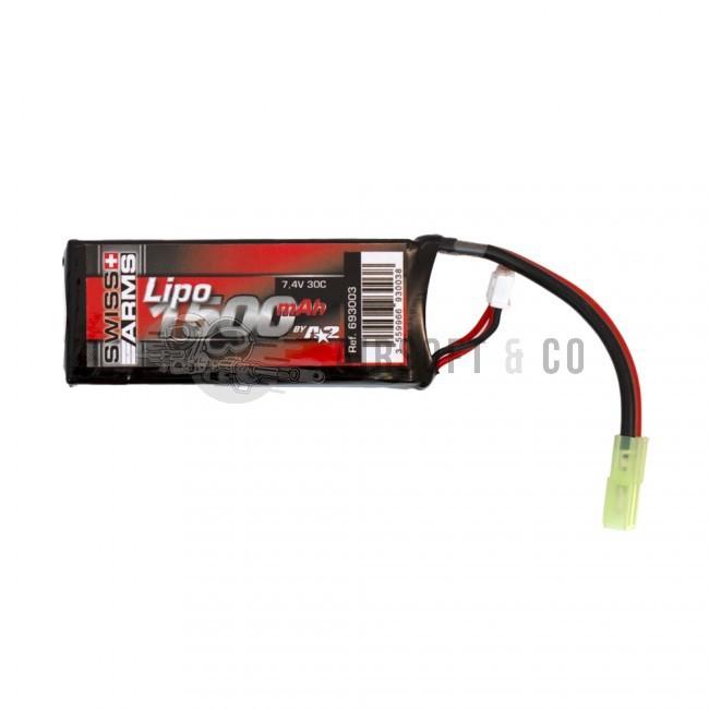 Batterie LiPo 7.4 v 1500 mAh / C96