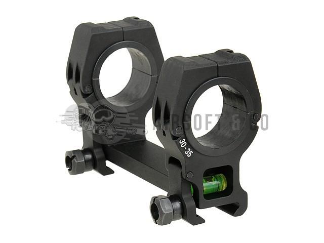 Montage lunette double Ø 30 - 35 mm avec niveau à bulle
