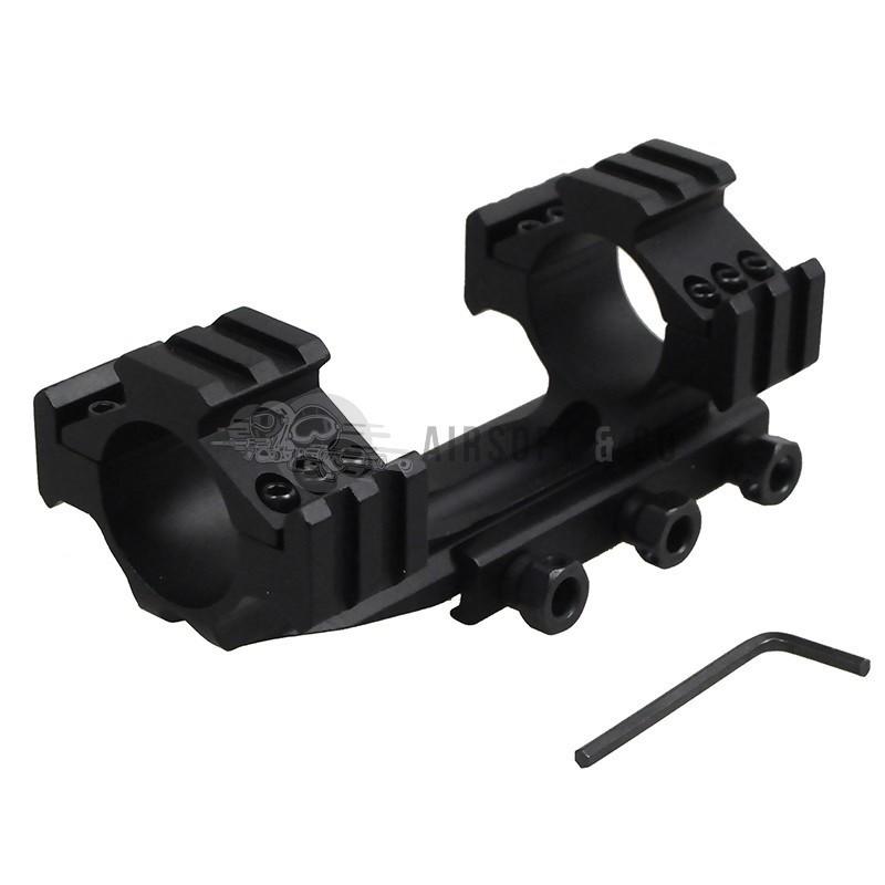 Montage lunette double Ø 30 mm triple rail