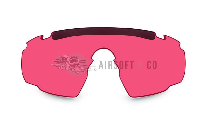 Ecran vermillon pour lunettes Saber Advanced