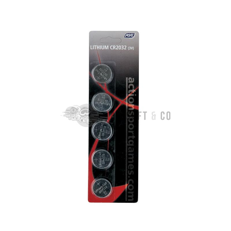 Lot de 5 piles lithium CR2032 - 3 V