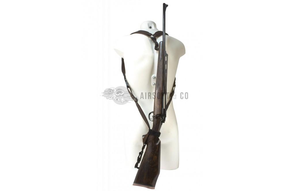 """Bretelles Type """"Sac à dos"""" pour carabine"""