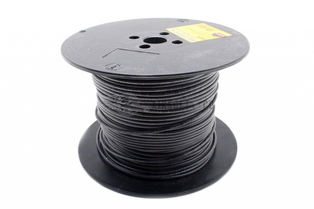 Câble silicone 1 mm² noir