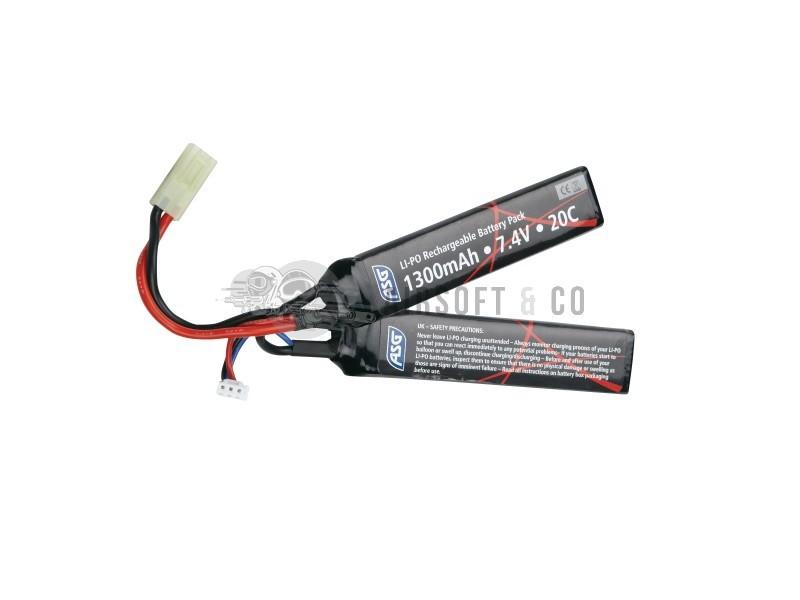 Batterie LiPo 7.4 v 1300 mAh 25C Twin