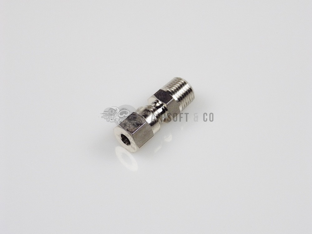 Piquage droit 1/8 NPT mâle pour flexible Ø 4 mm