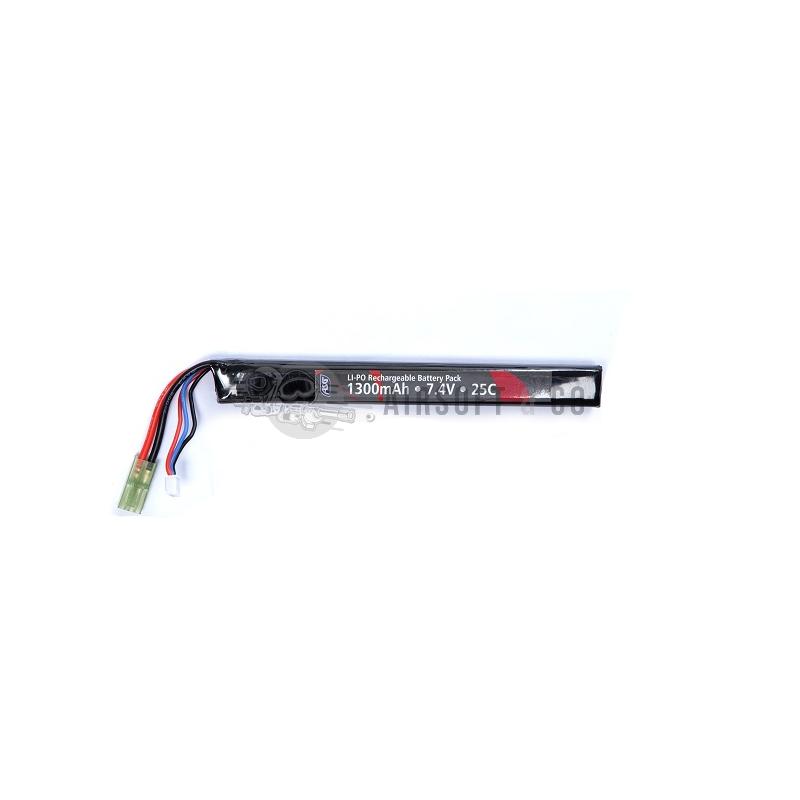 Batterie LiPo 7.4 v 1300 mAh 25C