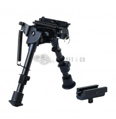 Spring Eject Bench Rest Bipod 6''