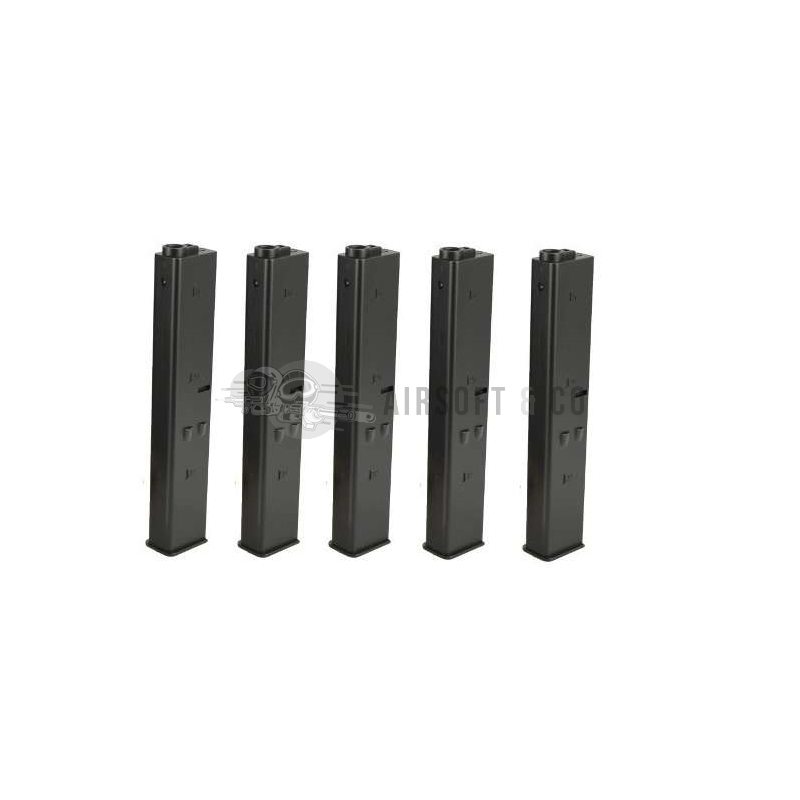 Pack 5 chargeurs 9 mm pour M4 AEG Series