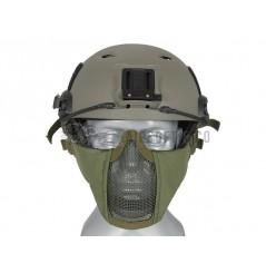 Masque bas de visage semi-grillagé pour casque