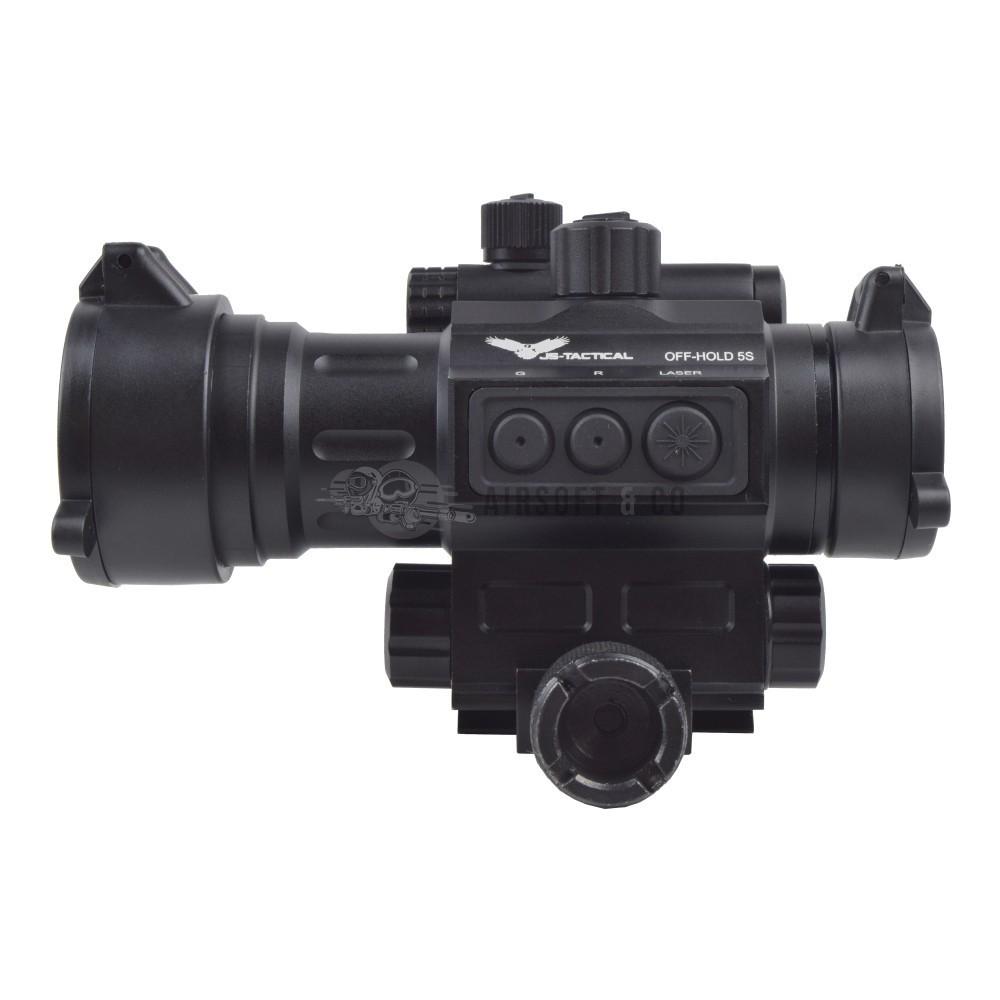 Dot-sight avec laser rouge intégré