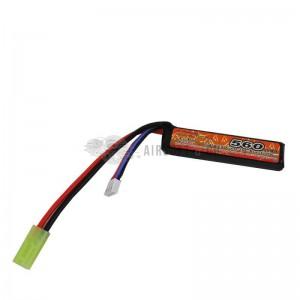 Batterie LiPo 7.4 v 560 mAh 20C Burst 40C