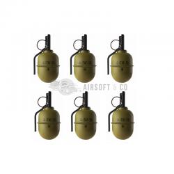 Pack de 6 grenades à main TAG-67